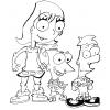 Disegno di Phineas Ferb e Candace da colorare