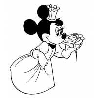 Disegno di Principessa Minnie da colorare