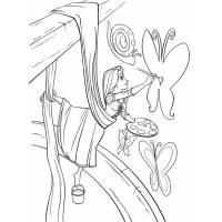 Disegno di Rapunzel che Colora da colorare