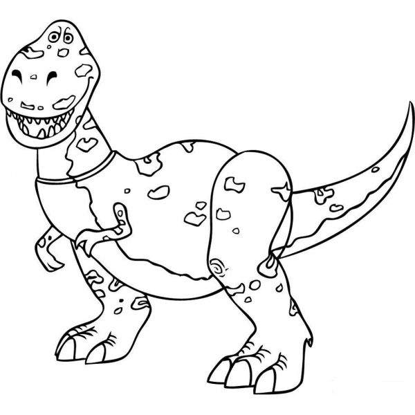 Disegno Di Rex Dinosauro Toy Story Da Colorare Per Bambini