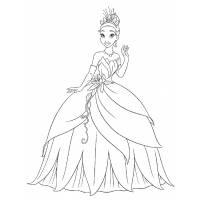 Disegno di La Principessa Tiana da colorare