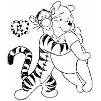 Disegno di Tigro e Winnie Pooh Amici da colorare