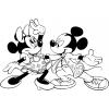 Disegno di Topolino e Minnie Ballerini da colorare