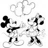 Disegno di Topolino e Minnie da colorare