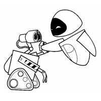 Disegno di WALL-E da colorare
