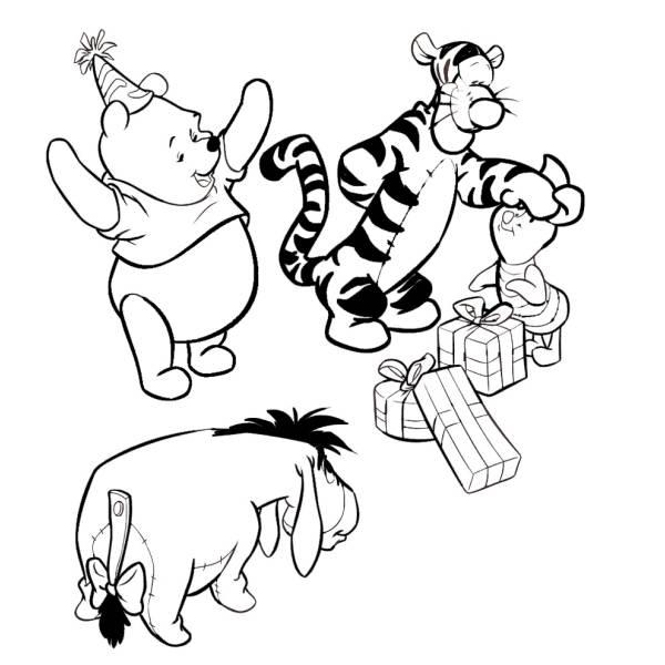 Disegno di Winnie Pooh e i suoi Amici da colorare