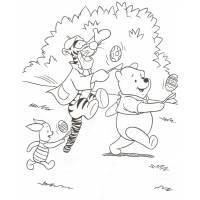 Disegno di Winnie Tigro e Pimpi da colorare