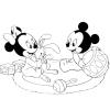 Disegno di Minnie e Topolino Baby da colorare