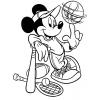 Disegno di Topolino e lo Sport da colorare