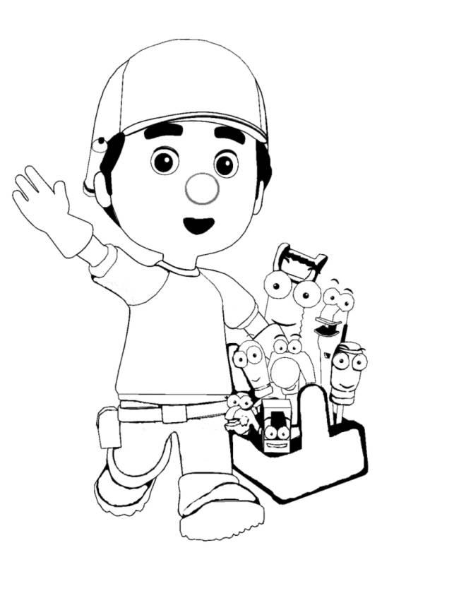 Disegno di manny tuttofare da colorare per bambini - Immagini di aquiloni per colorare ...