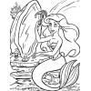 Disegno di La Sirenetta allo Specchio da colorare