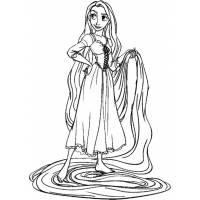 Disegno di Rapunzel Disney da colorare