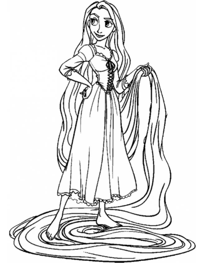Stampa Disegno Di Rapunzel Disney Da Colorare
