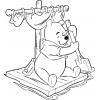 Disegno di Winnie Pooh sulla Zattera da colorare