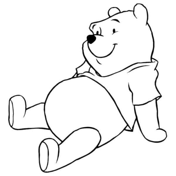 Disegno Di Winnie The Pooh Da Colorare Per Bambini