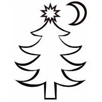 Disegno di Albero di Natale da colorare