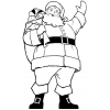 Disegno di Babbo Natale da colorare