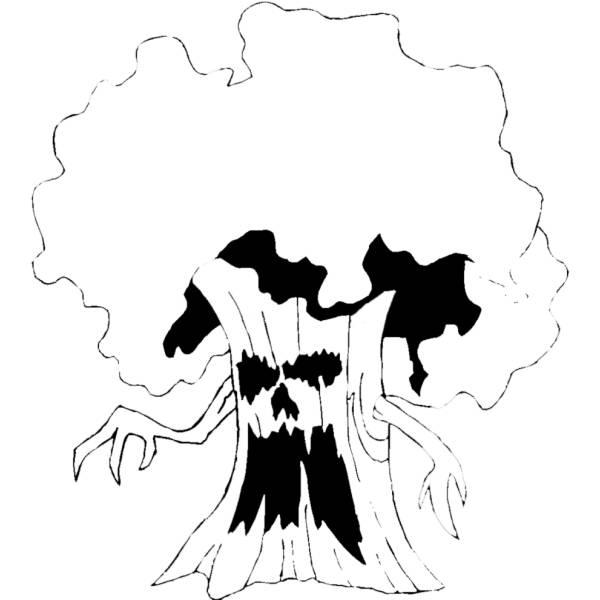 Disegno di Albero Stregato da colorare