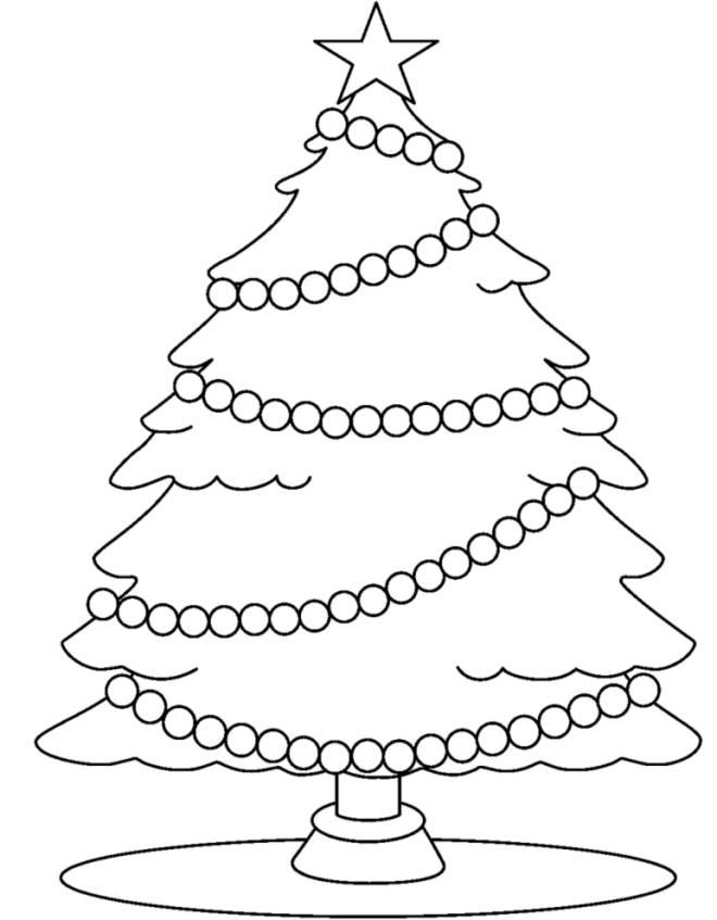 Albero Di Natale Immagini Da Colorare.Disegno Di Albero Con Stella Di Natale Da Colorare Per Bambini Disegnidacolorareonline Com
