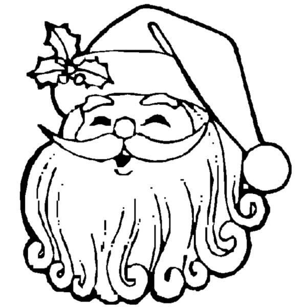 Disegno Di Babbo Natale Sorridente Da Colorare Per Bambini
