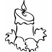 disegno di Candela di Natale da colorare