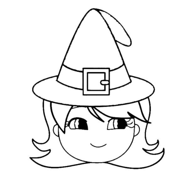 Disegno Di Cappello Di Halloween Da Colorare Per Bambini