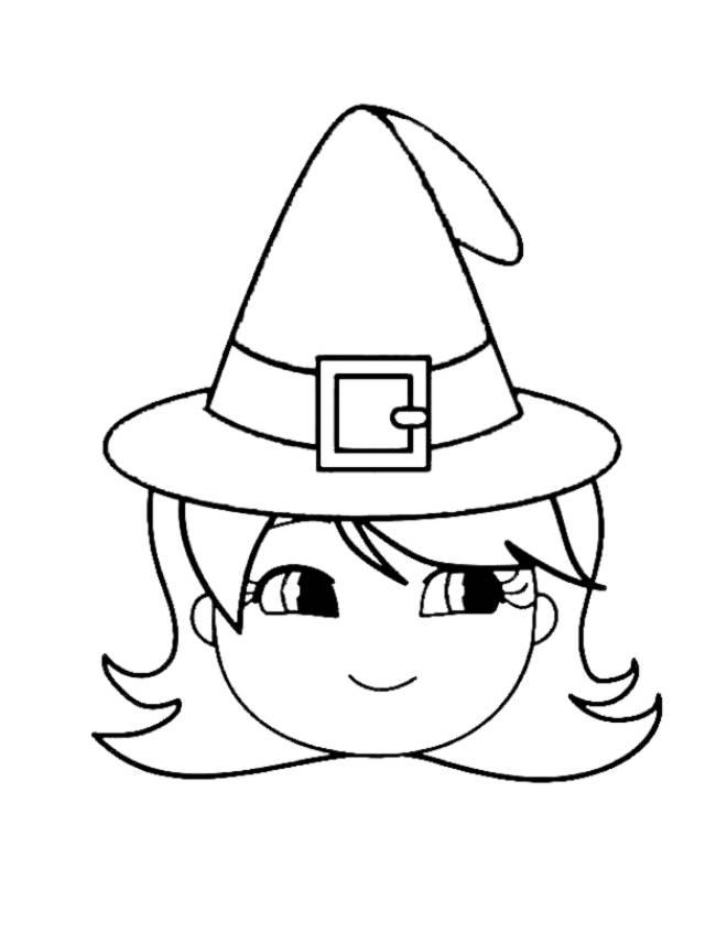 Disegno di cappello di halloween da colorare per bambini for Disegni di zorro da colorare per bambini