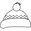 Disegno di Cappello Natalizio da colorare