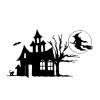disegno di Castello di Halloween da colorare