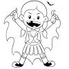 Disegno di Costume da Vampiro da colorare