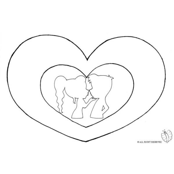 Disegno Di Bacio San Valentino Da Colorare Per Bambini
