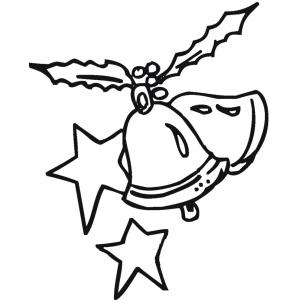 Disegno di campane e stelle di natale da colorare per for Stelle da stampare