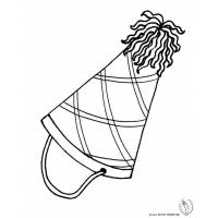 Disegno di Cappellino per Feste da colorare