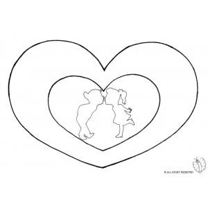 Disegno di cuori san valentino da colorare per bambini for Disegni di cuori da stampare gratis