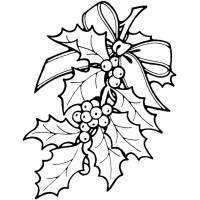 Disegno di Decorazioni Natalizie da colorare