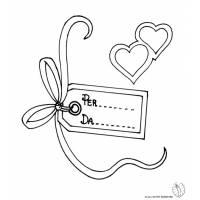 disegno di Etichetta Nomi San Valentino da colorare