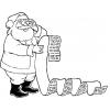 Disegno di Letterina a Babbo Natale da colorare