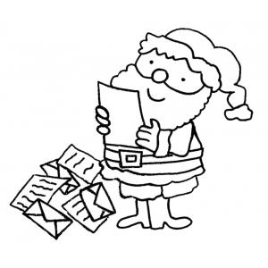 Disegno di Letterina per Babbo Natale da colorare
