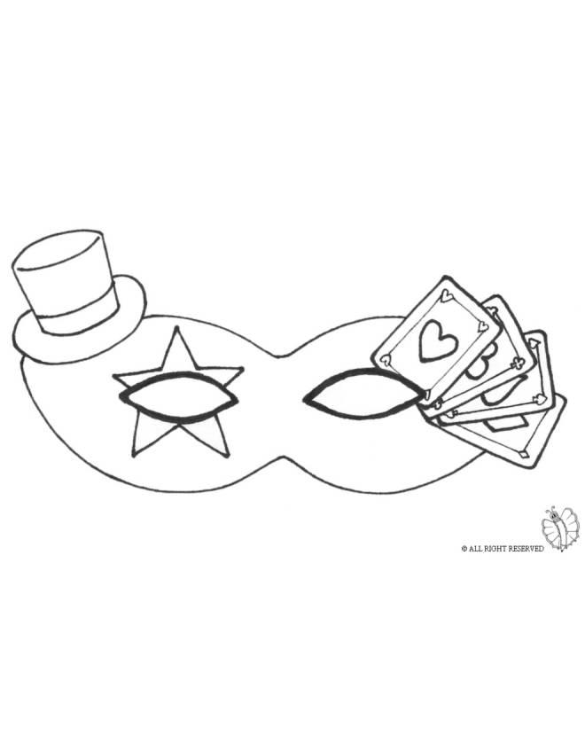 Maschere Carnevale Da Colorare Per Bambini.Disegno Di Maschera Carnevale Con Cappellino Da Colorare Per