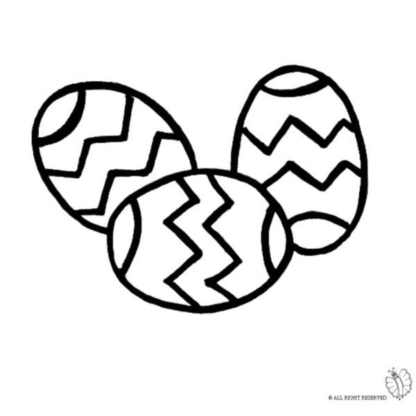 Disegno di Uova di Pasqua da colorare