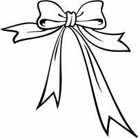 Disegno di Fiocco di Natale da colorare