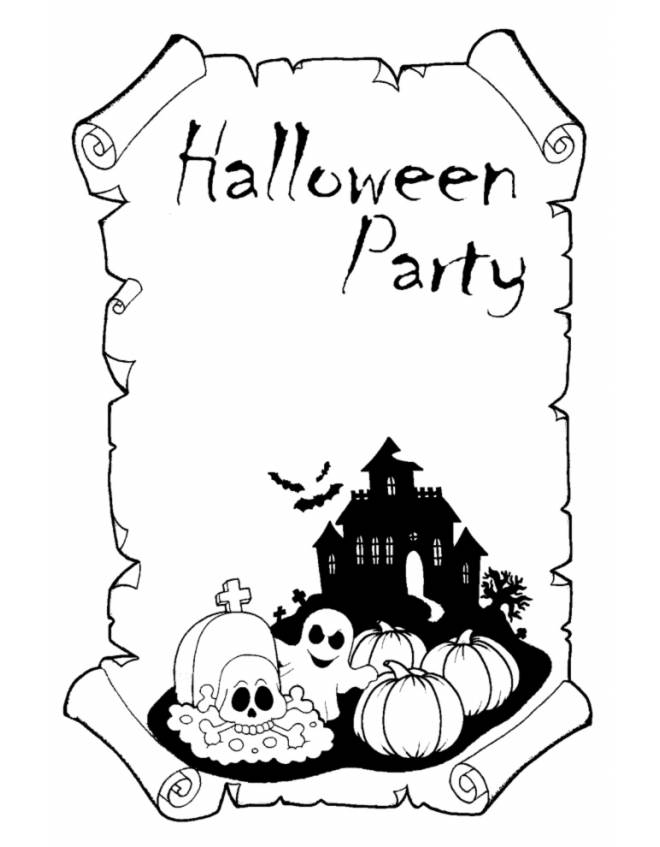 disegno di Halloween Party da colorare