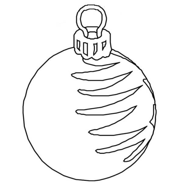 Disegno Di Palla Di Natale Da Colorare Per Bambini