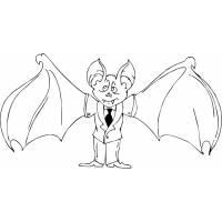 Disegno di Pipistrello Elegante da colorare