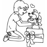 Disegno di Un Cucciolo per Regalo da colorare