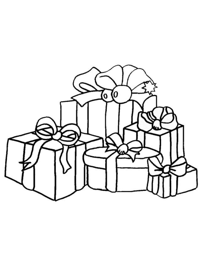 disegno di Regali di Natale da colorare