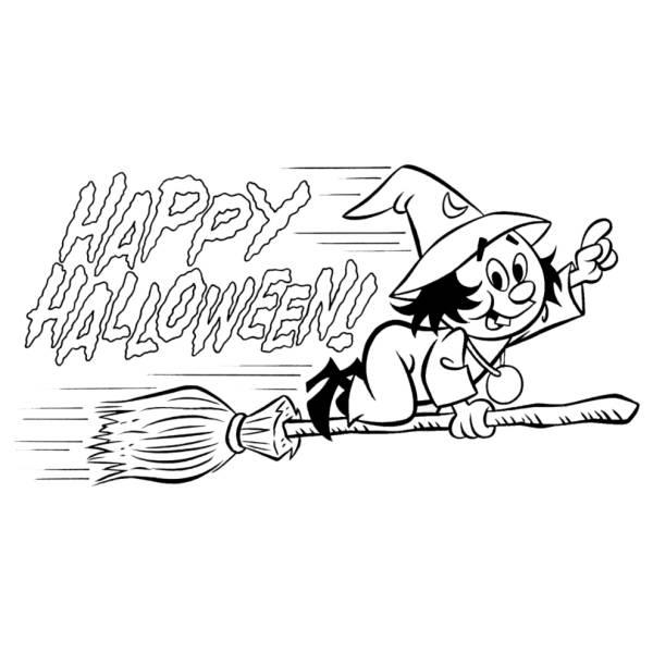 Disegno Di Festa Di Halloween Da Colorare Per Bambini