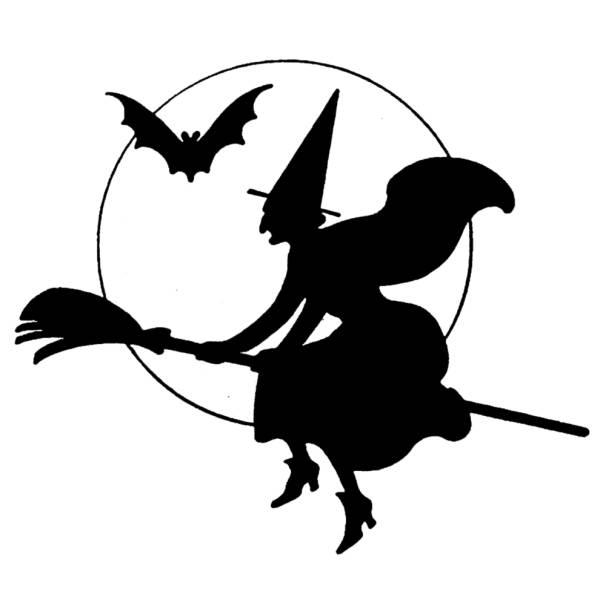 Disegno di La Strega di Halloween da colorare