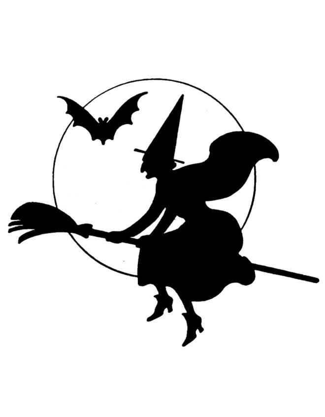 Disegno di la strega di halloween da colorare per bambini for Casa immagini da colorare
