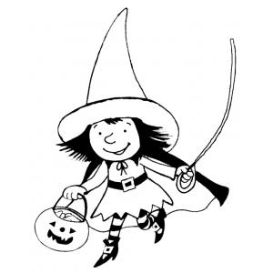 Disegno di vestito di halloween da colorare per bambini Disegni halloween da colorare gratis